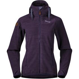 Bergans Hareid Fleecetakki Naiset, purple velvet melange